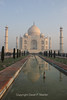 The Taj Mahal at dawn.