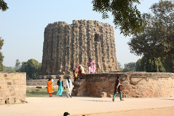 The start of a minar that was to be twice as big as the Qutb Minar, but never quite got off the ground.