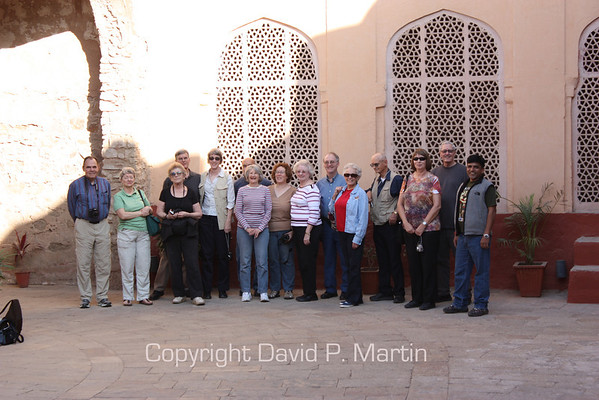 Not quite, but almost all of our OAT group at the City Palace Museum.