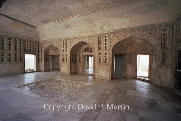The king's chamber in the Agra Fort.