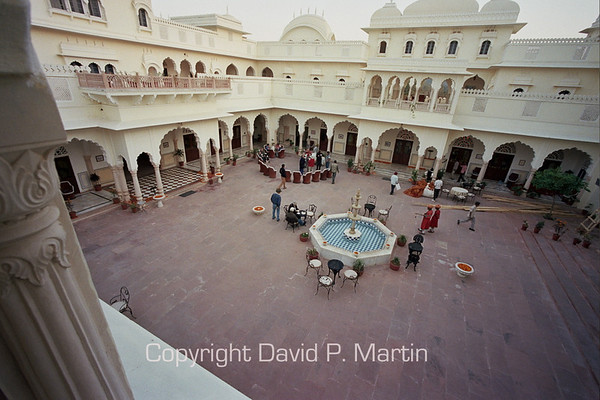 Courtyard of the Nahargarh Hotel, Ranthambhore