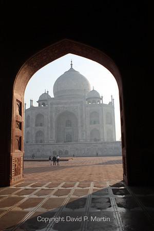 Early morning at the Taj Mahal.