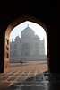 Early morning at the Taj Mahal.