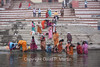 Ablutions in the sacred Ganges.