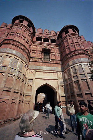 The entrance to the Agra Fort.