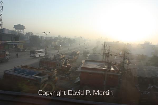 Morning smog.