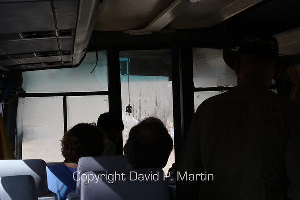 A small problem with the radiator of the bus.