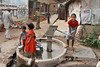 Village water pump.