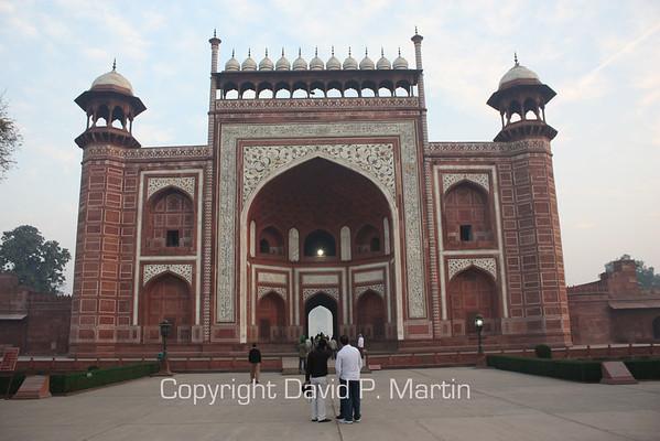 "The ""vail"" of the Taj Mahal."