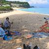 2020-02-28_95_Bali_Nikko Beach_Tony_Justin_Lyndall.JPG<br /> <br /> Pizza delivery on the beach!