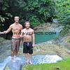 1430_05-24-15_Waterfall hike_Logan_Mike.JPG<br /> Logan Martina and Mike 'Hucker' Clark