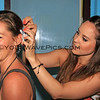 1527_05-25-15_Lyndall_Colie hairstying.JPG<br /> Colie trying out some sample hairdos for the bride-to-be
