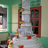 1537_05-25-15_Wedding cake.JPG<br /> This was a fake cake, just for decoration (that is, until all the kids got their fingers into the icing!)