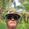 2018-03-11_Pulau Asu_1141_Jungle trail_Tony with spider.JPG<br /> <br /> Always carry a big stick when you walk through dense jungle!