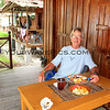 2018-03-09_Pulau Asu_1057_Ina Silvi's Cottages_Tony breakfast.JPG<br /> <br /> Breakfast is served