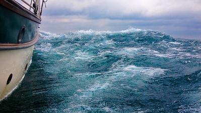 Ocean-like seas on little Lake St. Clair.  Michigan.