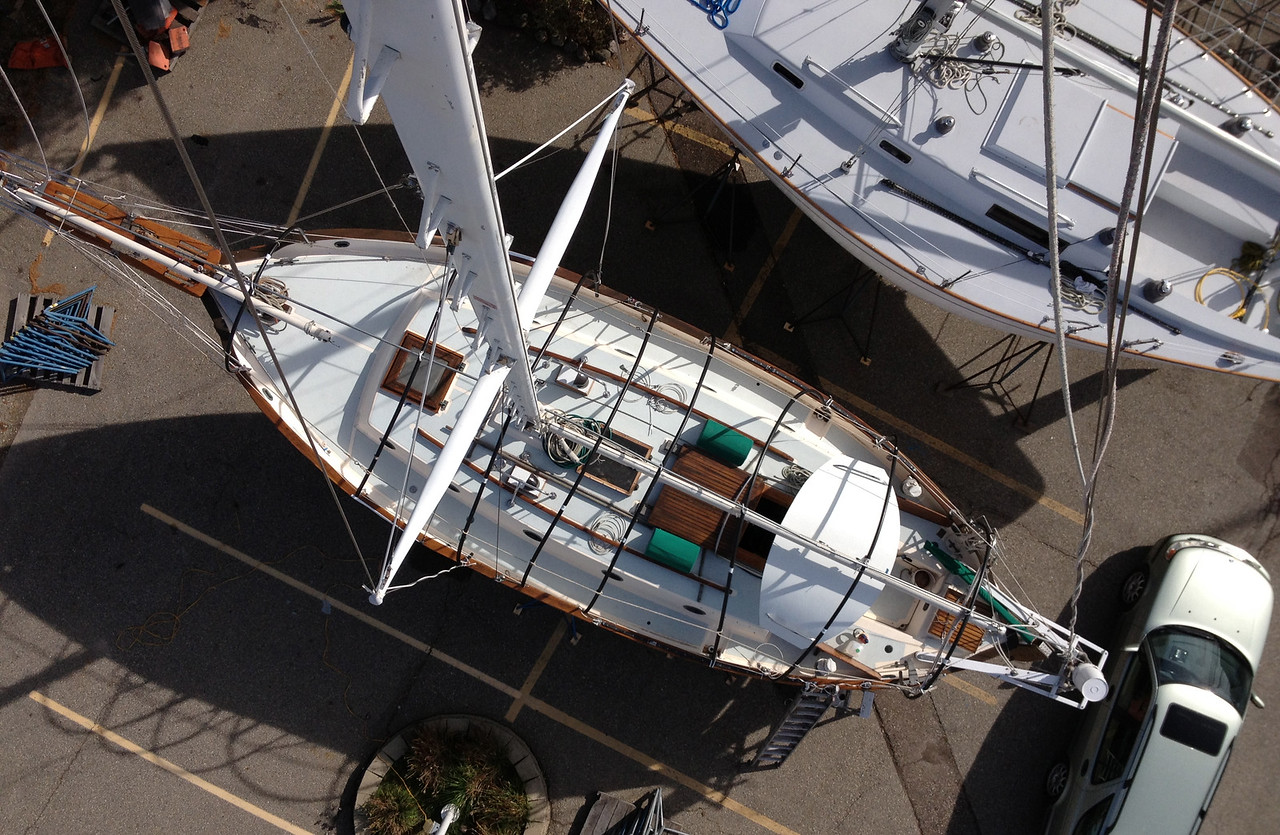 Me wee yacht, Antares, a Westsail 32.