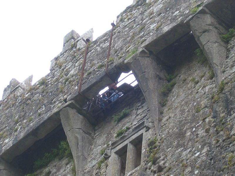 "kiss the famous Blarney Stone high up on the Castle battlements. Tradition holds that those who kiss the Blarney Stone will be endowed with the gift of eloquence - ""the gift of the gab"", as the locals call it."