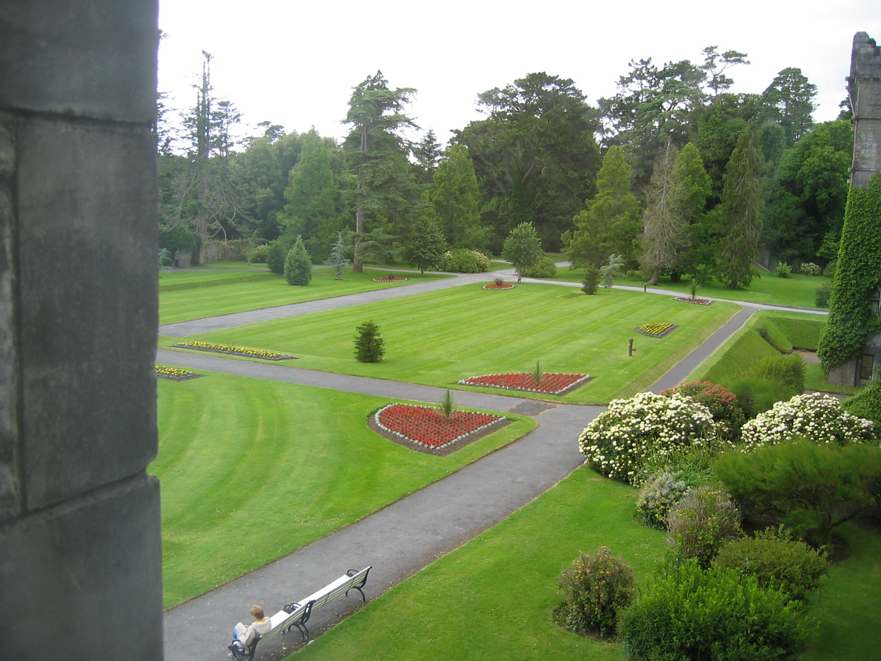 View from room of Ashford Castle