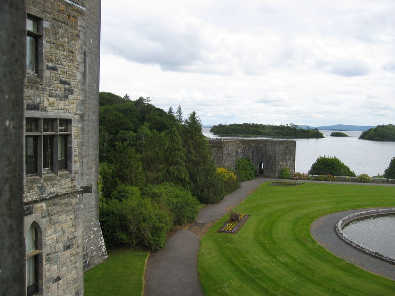 View for our room at Ashford Castle