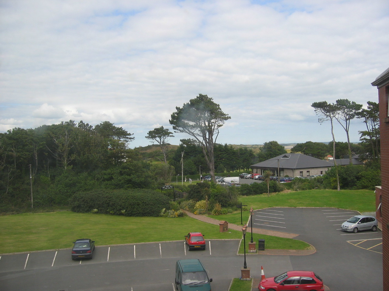 View for room window of Hastings-Slieve Donard Hotel