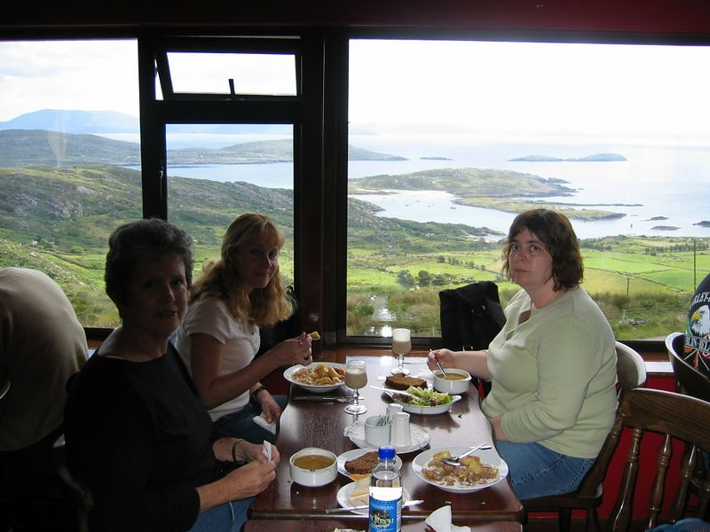 Lunch with a view.  Vicky,  Eddi & Sherri