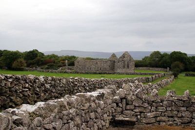 Kilmacduagh Monastery is a ruined abbey near the town of Gort in County Galway. It was the birthplace of the Diocese of Kilmacduagh