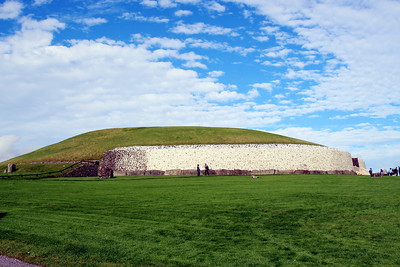 Newgrange is a prehistoric monument on the north side of the River Boyne. It was built during the Neolithic period around 3200 BC, making it older than Stonehenge and the Egyptian pyramids