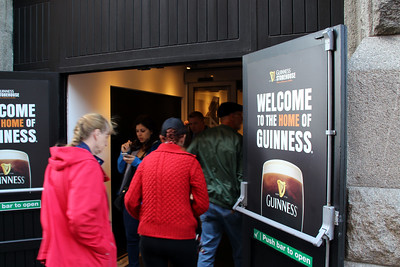 "Entering the Guinness Brewery - then we saw the admission price of 20 Euros (about $24) and changed our minds - too much for a ""self guided"" tour and a half pint of Guinness"