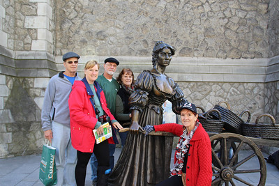 "Statue commemorating ""Molly Malone"" (also known as ""Cockles and Mussels"" or ""In Dublin's Fair City"") - a popular song, set in Dublin, Ireland, which has become the unofficial anthem of Dublin City."