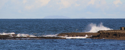 view of the Aran Islands from Doolin