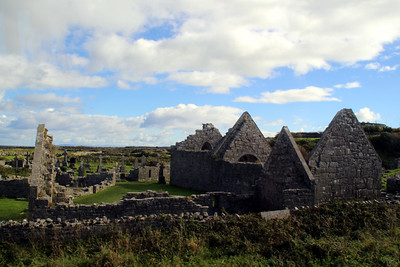Teampall Bhreacáin (St Brecan's Church) is a large multi period church c. 8th-13th century.