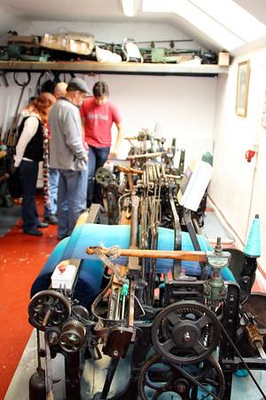 visiting a local woolen mill