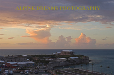 This is a shot of Kings Warf by the Fort at Dusk.  Check out those Clouds!