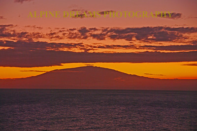 This is the Big Island pre-dawn (at least from this side of the island it was pre-dawn). This island has much to offer and should not be missed.