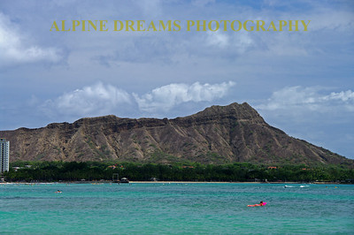 Diamond Head in its beauty shows off in a partly cloudy afternoon in Paradise.