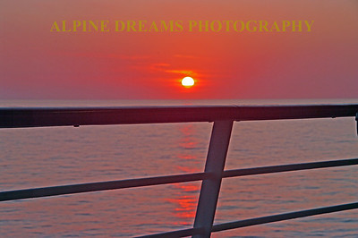 Every Sunrise and every sunset is special and different. This soft sunset is reason enough to go on a cruise.