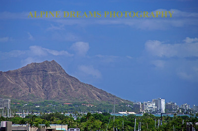 A view of Diamond Head from the marina at Honolulu