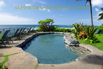 This is a fancy hotel pool right on Poipu Beach in Kauai. We did not stay here but it looked pretty comfortable.