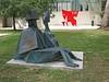 """Two Seated Figures,"" bronze, Lynn Chadwick (British) 1973"