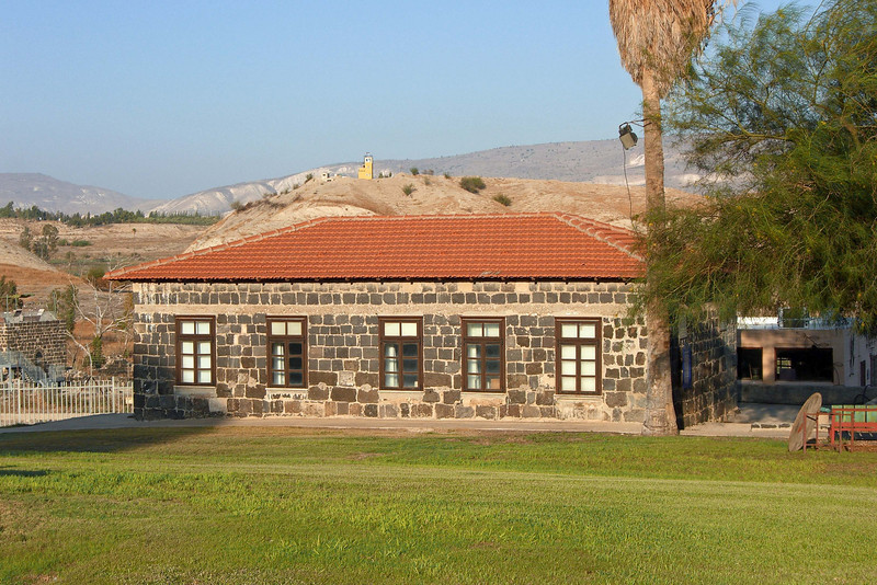 4-Foreground: Old Gesher Hadar Ochel (dining hall). background: watch tower in Jordan beyond.