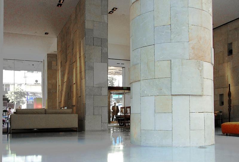 47-Mamilla Hotel lobby. Architect: Piero Lissoni, Italy.