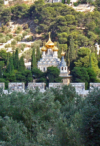 43-Seven-domed Church of St. Mary Magdalene, Mount of Olives (1888, Tsar Alexander III).