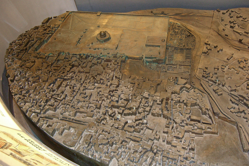 27-Model of the Temple Mount—an artificial platform built by Herod the Great—as it is currently exists.