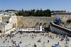 24-The Kotel (Western Wall). Women's section on the right, and the visitor ramp up to the Temple Mount.