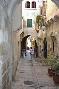 20-A street leading down to the Western Wall