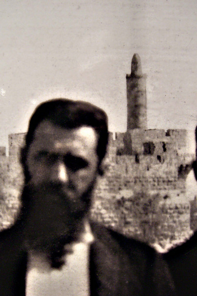 46-Theodore Herzl and Tower of David, 1898