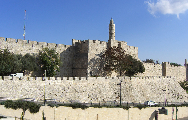 45-Tower of David, Old City western walls, 2009