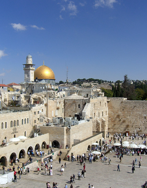 23-Western Wall and Dome of the Rock. The camera pans right ...