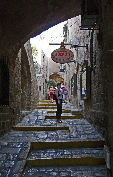34- One of the many walkways in Jaffa at the Hasimta Theatre